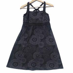 Soybu Ikat Black/Gray Print Athletic Dress